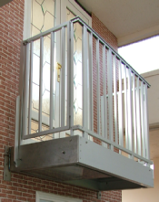 Balcony with Escape Ladder in the Base