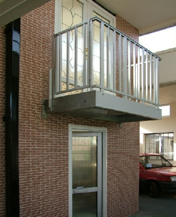 Balcony with Fire Escape Options